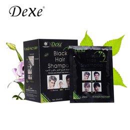 Wholesale 2016 DEXE BLACK Hair Shampoo GIVES YOU BLACK HAIR EVERYDAY sachets x ML black hair Color Shampoo Cream