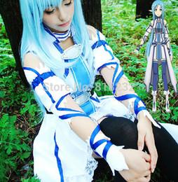 Аниме искусство для продажи-Оптово-SAO Sword Art Online Юки Асуна форменные платья Экипировка Аниме косплей костюмы