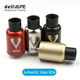 Wholesale Genius Viper RDA Atomizer Velocity Post Big Coil Holes mm Kennedy Venting Airflow Control Puff Cotton Clapton Alien Wire Ecigs Mod