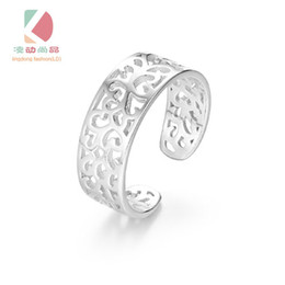 lingdong fashion brand 925 silver rings hollow pattern wide small code (9-14 code adjustable) are suitable for men and women free shipping