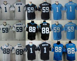 Descuento soltar la leva 2016 Camisas Newton # 59 de los jerseys # 1 de los jerseys de Luke Kuechly # 88 Los niños cosidos Greg Olsen bordaron el envío de la gota libre