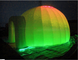 Wholesale best quality free standing lighting oxford clothes inflatable igloo tent for camping with free air blower