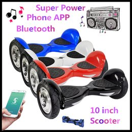 Wholesale Super Power Phone App Smart Balance Wheel Scooters quot Two Wheels Balancing Scooter Hover board Bluetooth Music Player Electric Skateboard