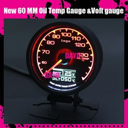 Wholesale Dayo New Colors mm Oil Temp Gauge High Quality Temperature Meter Voltage gauge Multi D A LCD Digital Display Racing Gauge