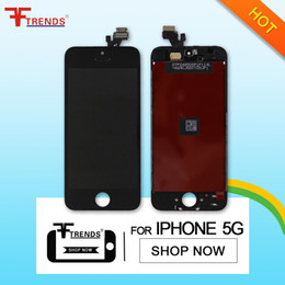 for iPhone 5 LCD Display & Touch Screen Digitizer Full Assembly OEM Black White LCD Screen 100% Test Free DHL EMS Shipping