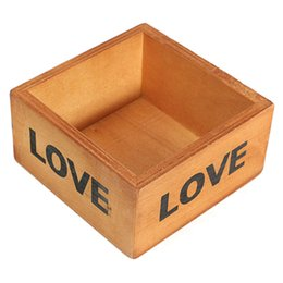 Wholesale Classical Style Treasure Chests Plant Tray Case Holder Vintage Retro Wooden LOVE Jewelry Antique Trinket Storage Box Flowerpot