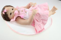 Wholesale 22 inch Soft Vinyl Reborn dolls Babies A Lovely Gift Little Girl Doll So Truly Real Lifelike Baby Doll