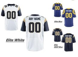 Wholesale 2016 New Men s Rams Elite Custom Football Authentic Jerseys Any Name Any Nmuber Professional High Quality Stitched Jerseys Low Price
