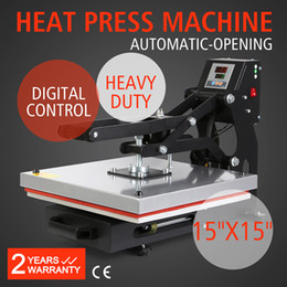 Wholesale 15 X15 Auto Open Magnetic Heat Transfer Heat Press Machine for T shirts Pants x38cm
