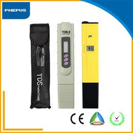 Wholesale PHEPUS Best Quality pen type Digital PH TDS Tester Meter Pocket Pen Aquarium Pool Water Digital Pen PH Meter Tester
