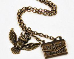 Wholesale Harry Potter Necklace Owl Post Necklace with Hogwarts Acceptance Letter pendant locket necklace envelope necklace