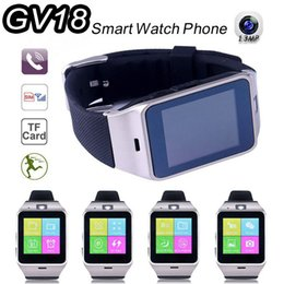 Wholesale 2016 Fashion Aplus Smart Watch GV18 Support Micro SIM Card NFC Communication Bluetooth Clock mAh Battery Long Duration