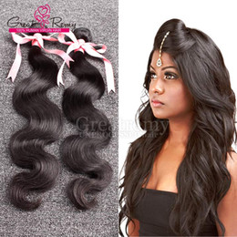 Greatremy® 2pcs lot Hair Weft Weave Amazing Natural Color Peruvian Virgin Human Hair Extensions Dyeable Body Wave