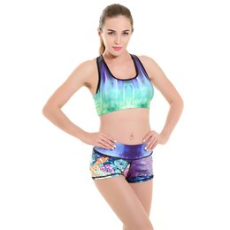 Womens Hot Sexy Super Elastic Running Fitness Shorts Woman Underwater World cartoon printing Summer Fashion Sports Gym Shorts