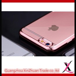 Wholesale Imported Material Plating TPU Silicone Transparent Phone Case Slim Anti fouling Anti fingerprint For Iphone s plus