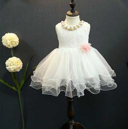 2016 summer new waist soft fluffy Skirt Girl Dress Lace Princess dress children dress kids clothes
