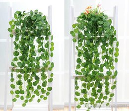 Wholesale Artificial Silk Green Plants Hanging Scindapsus lvy Foliage Garland Flowers Plants Home and Garden Decorations Wedding Supplier High Quality