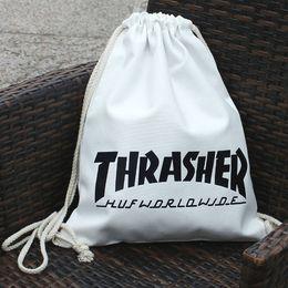 Wholesale String Thrasher drawstring bag Exercise skate sport stuff sacks Training backpack Gym rucksack Scooter board pouch