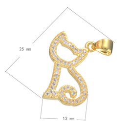 2016 Hotsale Pearls Chain Charms CZ Micro Pave Brass Pendant Cat-shape Plated & Hollow More Colors For Choice 25x13mm Hole:3.7mm 10PCS Lot