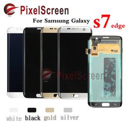 Promotion nouveaux écrans lcd Original et nouveau Pour Samsung Galaxy S7 Edge LCD numériseur d'écran pour Samsung S7 Edge SM-G935 Or Argent Noir Blanc