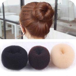 Wholesale 24pcs Donut Hair Ring Bun Former Shaper Hair Styler Maker Former Individual Packaging Korea Japan Fashion