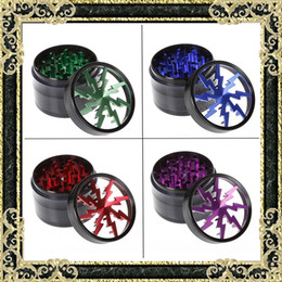 Wholesale New Grinders mm Aluminium Alloy Lighting Grinders With Clear Top Window Lighting Tooth Pieces Grinder Colors Sharpstone Grinders