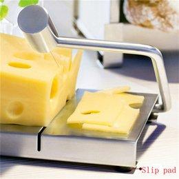 Cheese Slicer Board Cutter Stainless Steel Wire Cutting Cuisine d'outils à main Servir Conseil de qualité supérieure avec une longue poignée incurvée DHL bateau libre à partir de outil de coupe incurvée fabricateur