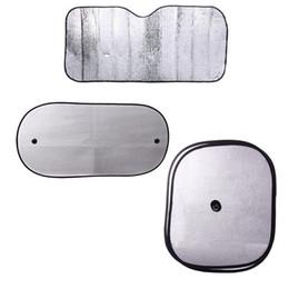 Wholesale 6pcs set Aluminum Foil Front Car Windshield Visor Cover Rear Side Window Screen Mesh Sun Auto Sun Shade Foldable