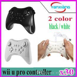 Xbox dual en venta-30pcs Controlador sin hilos análogo dual del regulador de Gamepad del negro para Nintendo Wii U favorable shippingYX-WUII libre