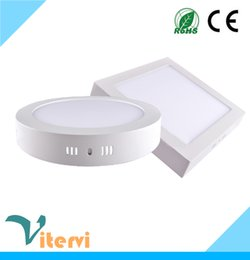 Round Square LED Panel Light 12W 18W 25W AC110-240V downlight indoor sitting room kitchen toilet ceiling light
