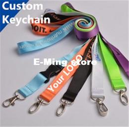 Wholesale Designer carabiner Custom Made Keychains Plain Blank Printing Logo Nylon Hanging Belt Lanyard Exhibition Badge Sling Personalized Gifts