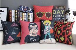 Rock Music Guitar Pop Art Modern Leopard Frame Pillow Massager Decorative Pillows Vintage Case Euro Cover Warm Home Decor Gift