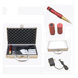 Hot Basekey Red Adjustable Style Permanent Body Eyebrow Machine Tattoo Machine CE With Battery
