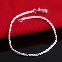 High quality 925 Silver Bracelet bangle Wholesale Fashion women jewelry Free shipping 10pcs lot