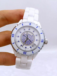 Free shipping the new quartz lovers to table a man watches a woman watch waterproof watches white ceramic