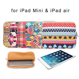 Wholesale 2016 Assorted Colors Tablet PC Protecter Pouch Bags Purses for iPad mini or iPad Air Digital Storage Bag Portable Protection Pouches