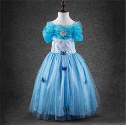 Cendrillon hors épaule Lace Princesse robe Filet de filetage Sling Robe de bal Tutu Robe de fille Fille d'anniversaire Robe de princesse de Noël à partir de robe princesse fronde fabricateur