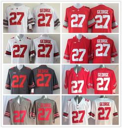 Wholesale Ohio State Buckeyes Jersey Football Ncaa College Eddie George Jerseys Black White Red Grey