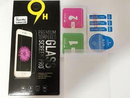 2017 pantallas digitales Paquete de papel s7 Iphone 6s 6s 7 7s más protector de pantalla de vidrio templado anti-rotura anti-huella digital para Iphone 5 Samsung Galaxy S6 / S5 película pantallas digitales limpiar