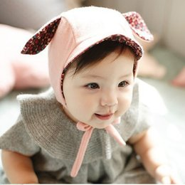Wholesale Kids Fedora Ears - 0-2 Years 2016 New Cute Rabbit Long Ear Hat Baby Bonnet Kids Girls Boys Yellow Pink ZA0242