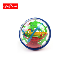 Wholesale-2015 3D Space Puzzle Magnetic Ball Educational Maze Cube Intellect IQ Trainer Game Amazing Balance Toy FT929A for Kids-100 Steps