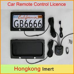 Control remoto 315 en Línea-EE.UU. Szie metal Auto / coche teledirigido del sostenedor de matrícula, la cubierta de privacidad, la cautela Ocultos capítulo de matrícula de 315 * 170 * 25.8mm