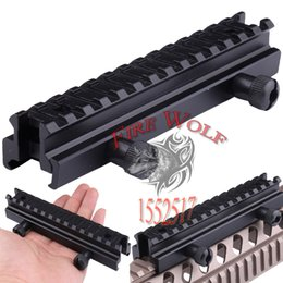 Wholesale Airsoft Air Gun Tactical See Thru AR Flat Top quot Riser Scope Mount mm to mm for Picatinny Rail Base mount D0021