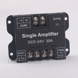Wholesale DC V A Led Data Repeater Signal Amplifier Aluminum For single color Led strip