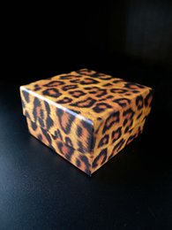 [Simple Seven]Lovers Ring Box Leopard Printing Pedant Box  Fashion Necklace Package  Special Jewelry Case Trend Bracelet Packing with Ribbon