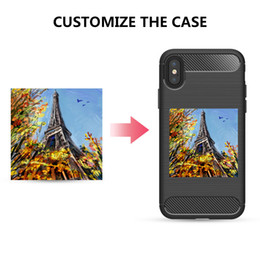 Wholesale Shockproof Colorful Phone Case for iPhone 8 8Plus Carbon Fiber TPU Drawing Hardware Phone Cover Case
