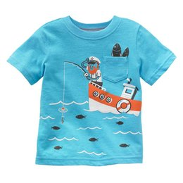 Wholesale 2016 Children's T-Shirts Summer Short Sleeve Fishing Fashion Boys Tee Shirts Tops jumping beans boys clothes cheapest