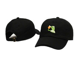 Wholesale Kermit Tea Hat The Frog Sipping Drinking Tea Baseball Dad Visor Cap Kanye West Wolves hat DRAKE OVO KNOW YOURSELF hat