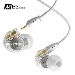 Wholesale MEElectronics M6 PRO CL stage MEE audio in ear headphones wired earphone mm black transparent colors
