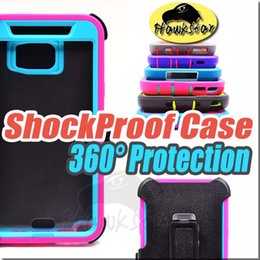 Wholesale For Iphone plus Note Rugged Armor Hybrid Silicone Cases With Front Screen Belt Clip For iphone S plus Samsung S6 S7 edge Note S5